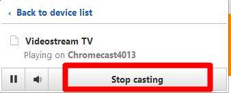 Using Videostream Chrome extension to stream local media for Chromecast