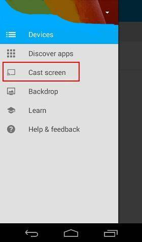 Android screen casting for Chromecast is now supported on all