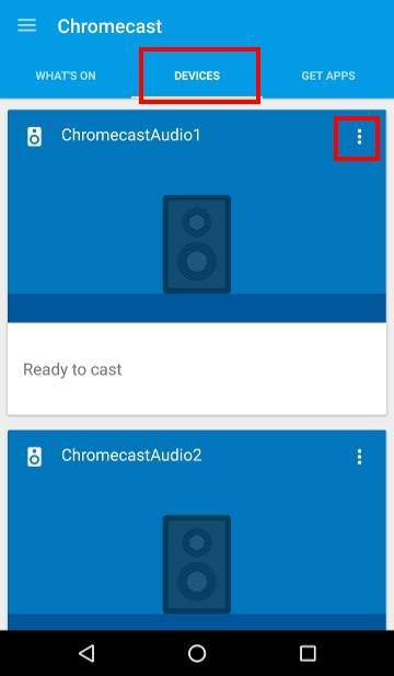 How to use Chromecast Audio multi-room group playback 1, setting-devices
