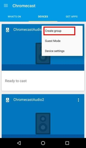 How to use Chromecast Audio multi-room group playback: 2_create_group