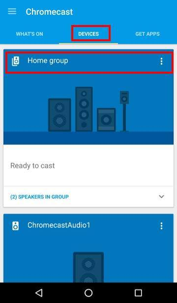 How to use Chromecast Audio multi-room group playback: 4_check group