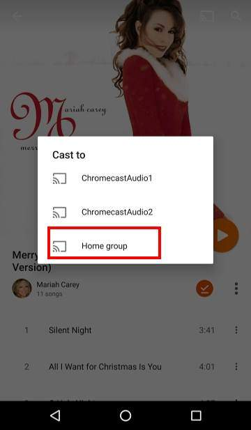 How to use Chromecast Audio multi-room group playback: 6_cast_to_group