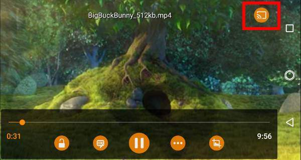 use VLC for Android to stream local media to Chromecast