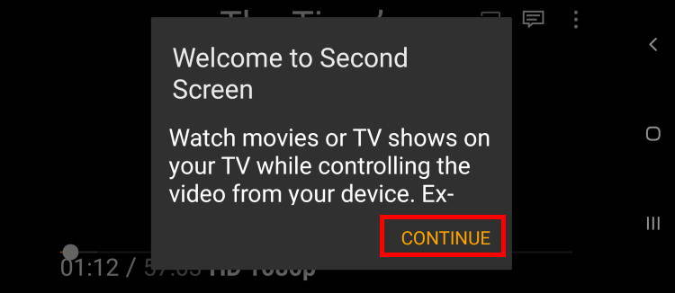 watch on second screen